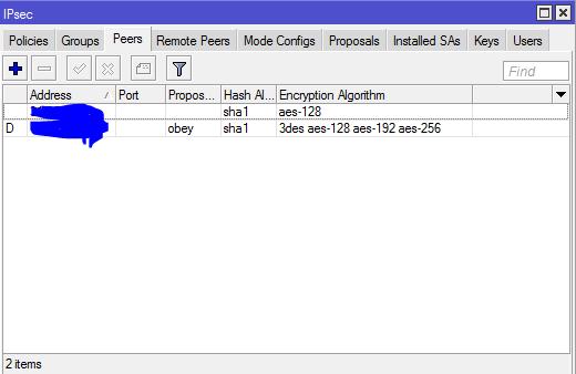 Mikrotik L2TP-IPSec за NAT: ipsec,error failed to pre-process ph2 packet - 2