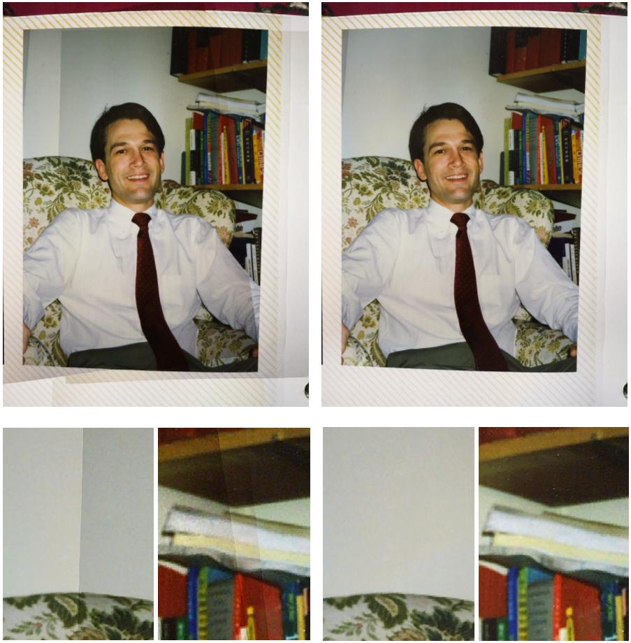 PhotoScan: как делать фотографии фотографий без бликов - 9