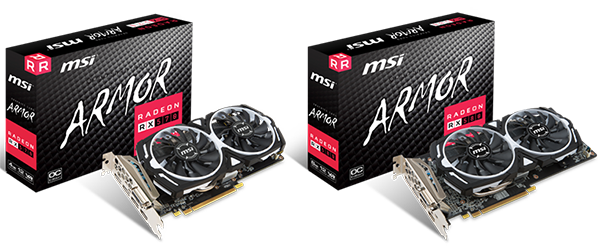 Видеокарты MSI Radeon RX 580 и Radeon RX 570 серии Armor