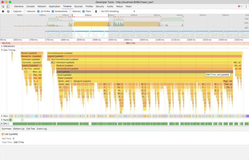 Временная шкала выводит этапы записи работы приложения