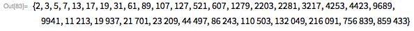 Простые числа Мерсенна и тест Люка-Лемера - 229