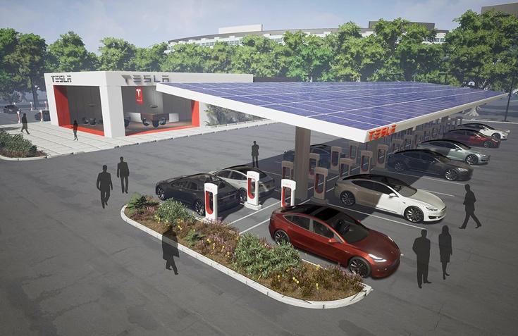 Количество заправок Tesla Supercharger в этом году достигнет 10 000