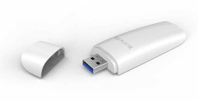 Внешний сетевой адаптер Tenda U12 поддерживает Wi-Fi 802.11ac и USB 3.0