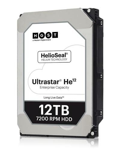 Начались поставки накопителей на жестких магнитных дисках HGST Ultrastar He12 объемом 12 ТБ