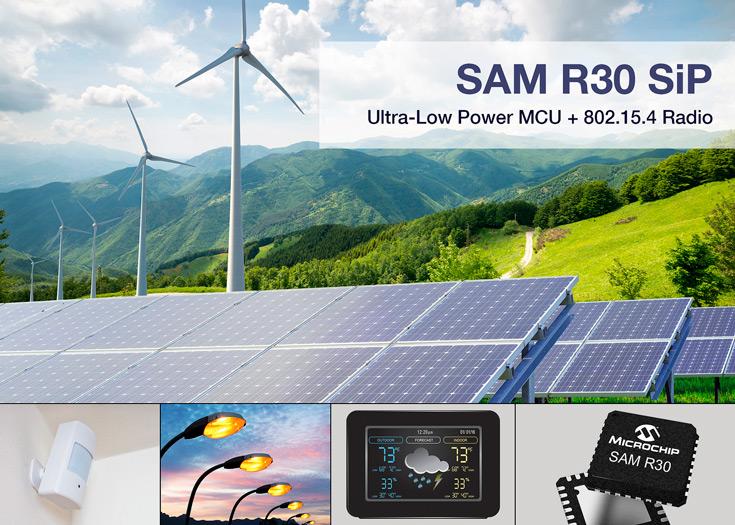 Решения на базе Microchip SAM R30 смогут работать без замены источника  питания в течение нескольких лет