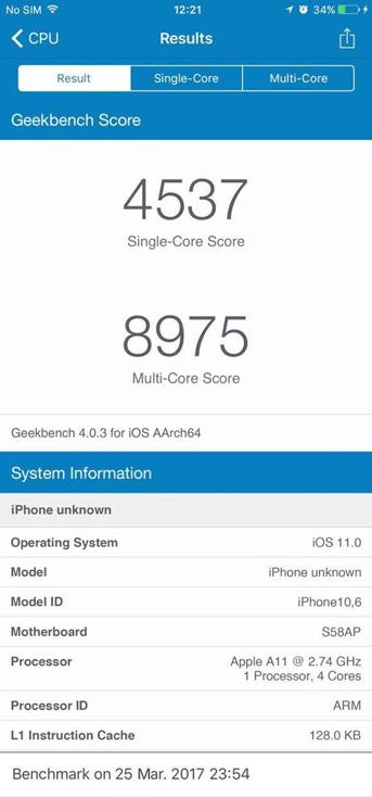 SoC Apple A11 служит основой новых смартфонов Apple iPhone