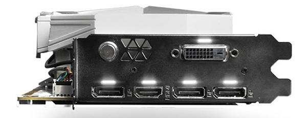 3D-карта KFA2 GeForce GTX 1080 Ti HOF 8 Pack Edition: трехслотовый кулер, встроенный дисплей и очень высокие частоты - 4