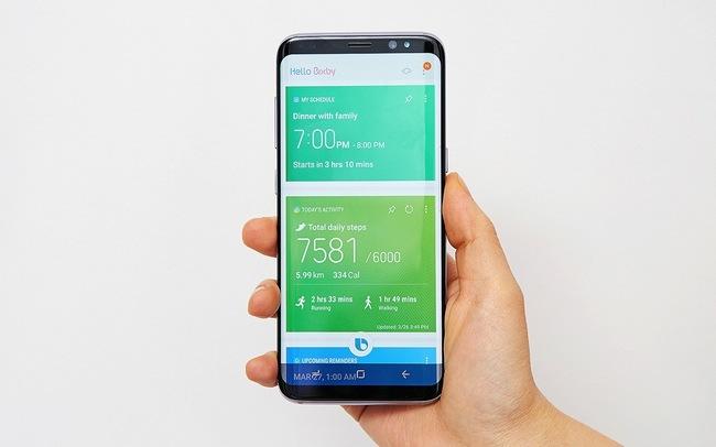 Голосовой поиск в смартфоне Samsung Galaxy S8 при помощи Bixby запущен