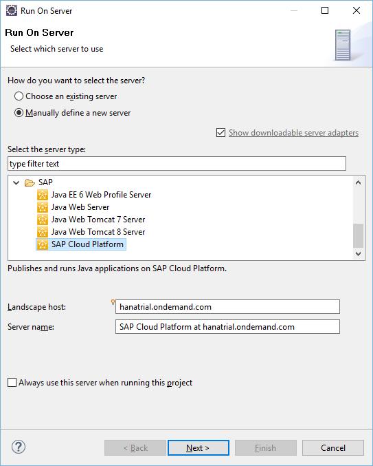 Как запускать на SAP Cloud Platform сервлеты из Eclipse - 17