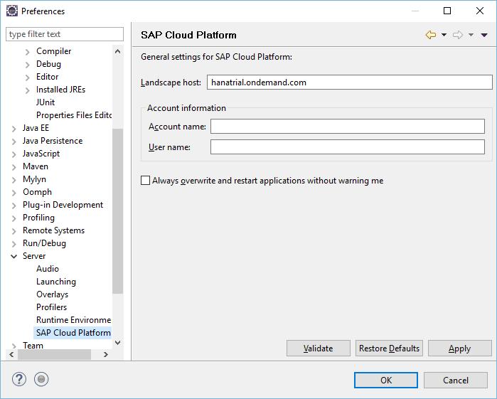 Как запускать на SAP Cloud Platform сервлеты из Eclipse - 3