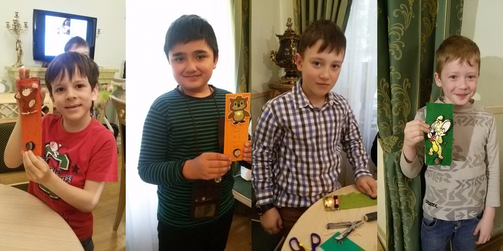 Закладки детей со светодиодом. вшиваемая элеткроника Эду-Крафт