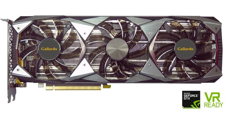 Manli представила огромную видеокарту GeForce GTX 1080 Ti Gallardo