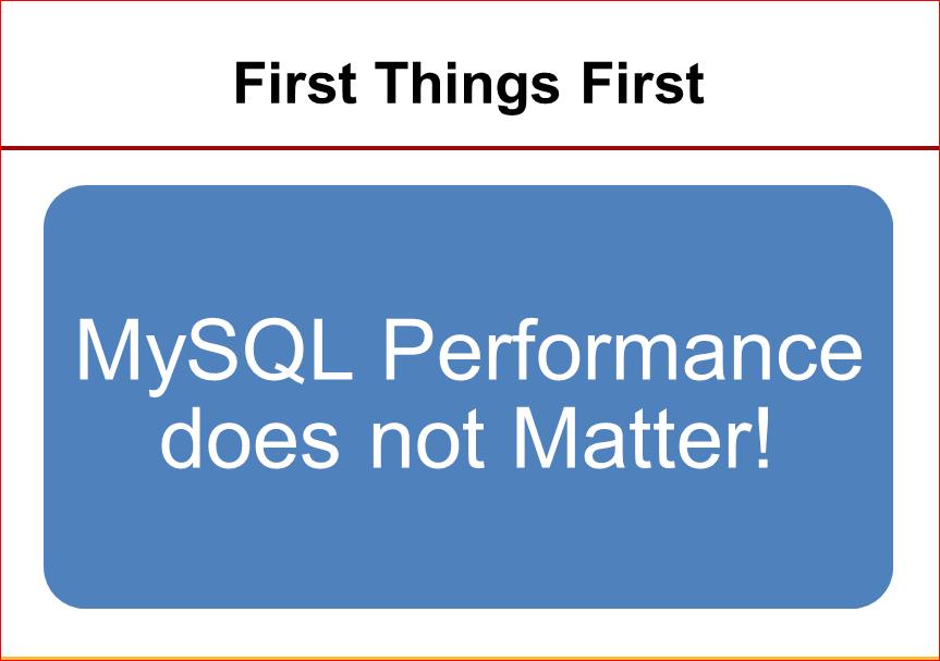Практическая оптимизация MySQL: измерять, чтобы ускорять - 2