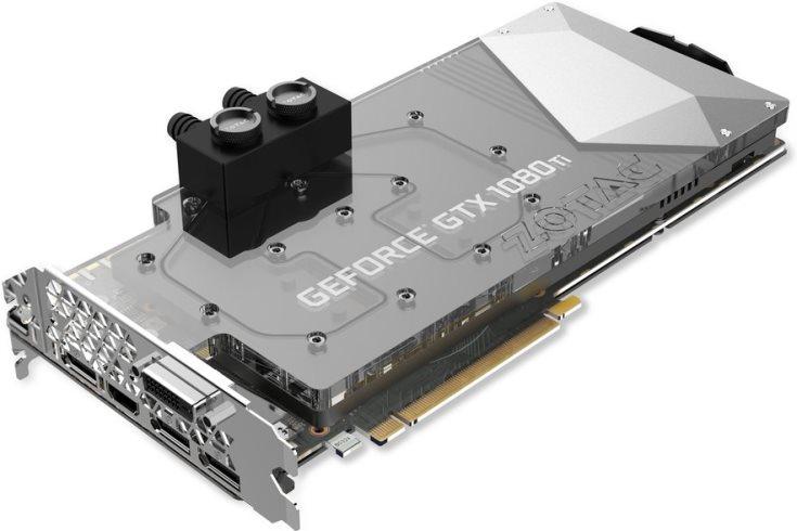 В оформлении 3D-карты Zotac GTX 1080 Ti ArcticStorm применена светодиодная подсветка