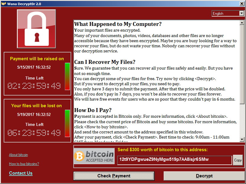 Ransomware day: массовое заражение Wana Decrypt0r - 1
