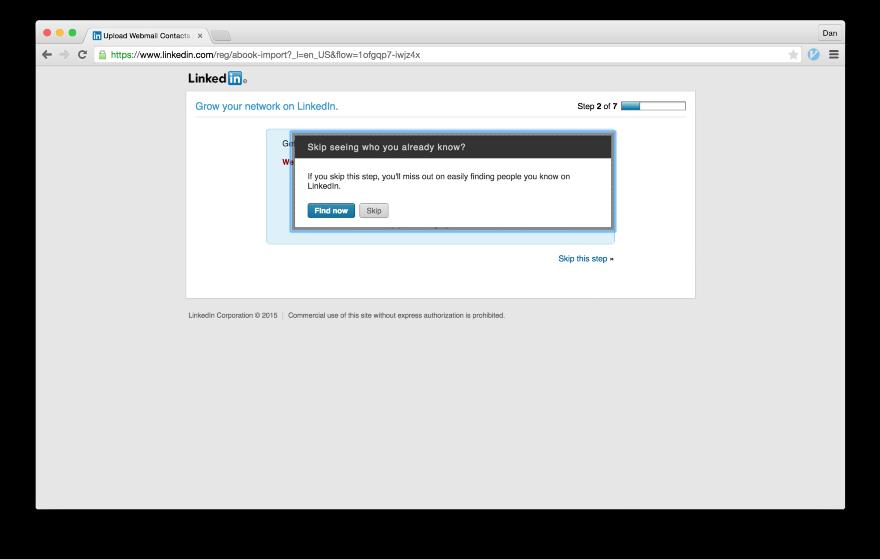Тёмные паттерны LinkedIn или Почему вам спамят друзья, призывая зарегистрироваться в LinkedIn - 12