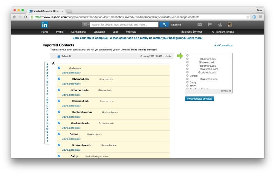 Тёмные паттерны LinkedIn или Почему вам спамят друзья, призывая зарегистрироваться в LinkedIn - 3