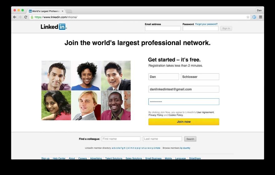 Тёмные паттерны LinkedIn или Почему вам спамят друзья, призывая зарегистрироваться в LinkedIn - 4