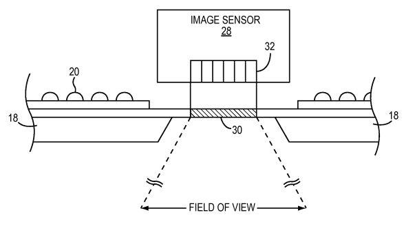 Формируемое датчиком изображение можно использовать для определения уровня освещенности вокруг светильника