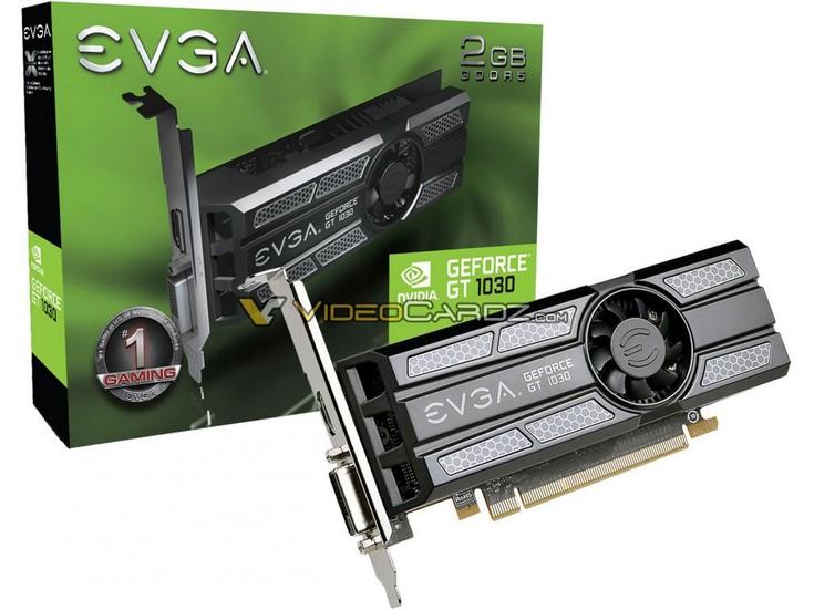 EVGA готовит карту GeForce GT 1030 2GB LP с небольшим кулером
