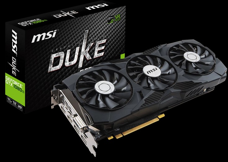 MSI представила парочку карт GeForce GTX 1080 Ti Duke