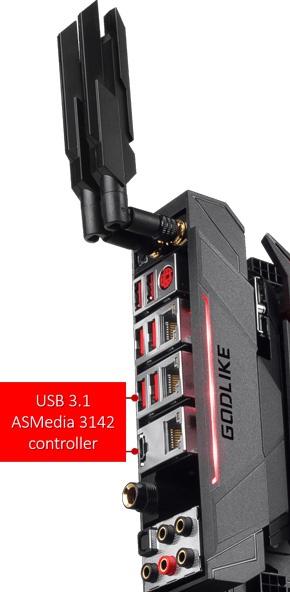 MSI Z270 Godlike Gaming, интерфейсная панель