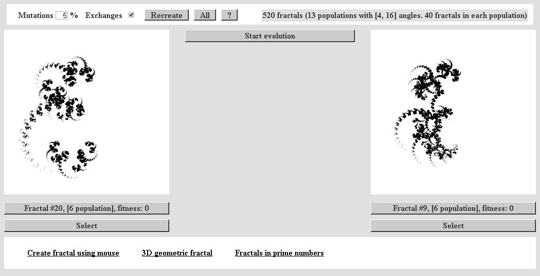 Эволюция фрактальных монстров - 81