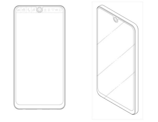 Опубликован эскиз нового безрамочного смартфона LG