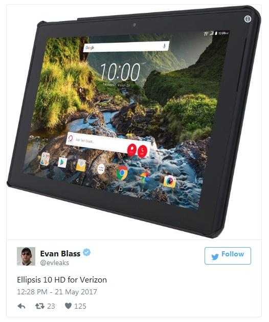 Технические характеристики нового планшета Verizon пока неизвестны