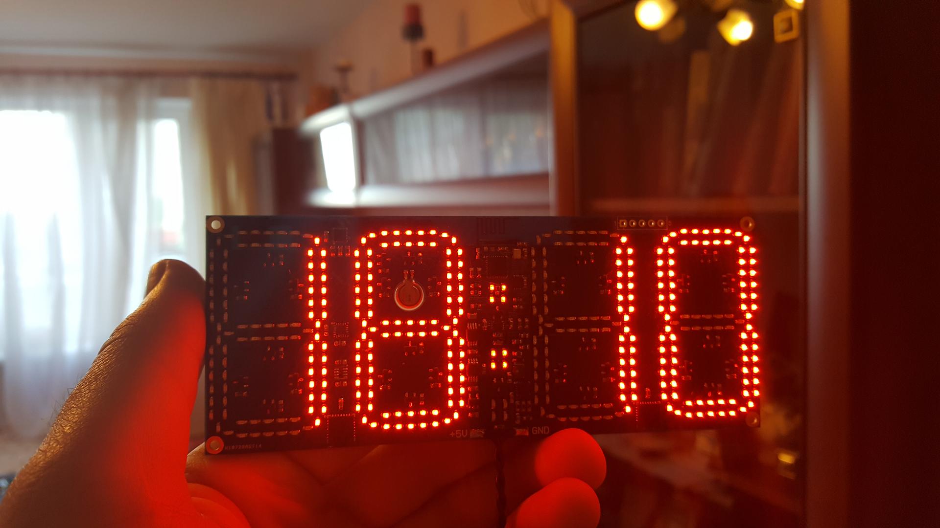 Ещё одни часы с WiFi. Clock380 - 11