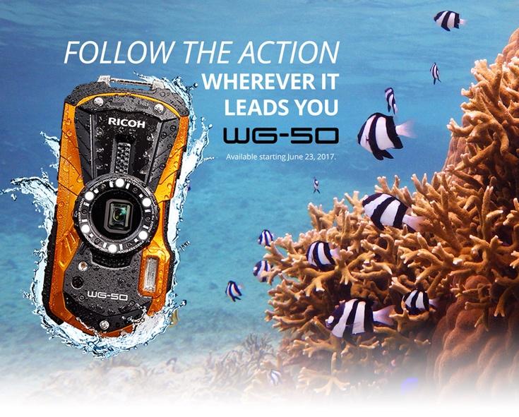 В продаже камера Ricoh WG-50 появится в конце июня