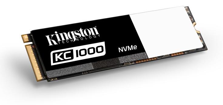 Твердотельные накопители Kingston KC1000 предложены объемом до 960 ГБ