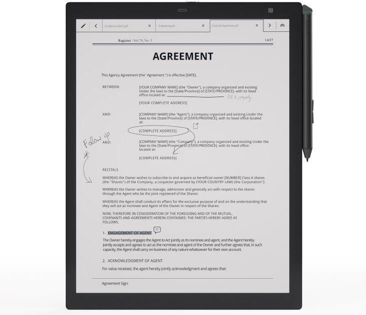 Представлено устройство Sony Digital Paper второго поколения (DPT-RP1)