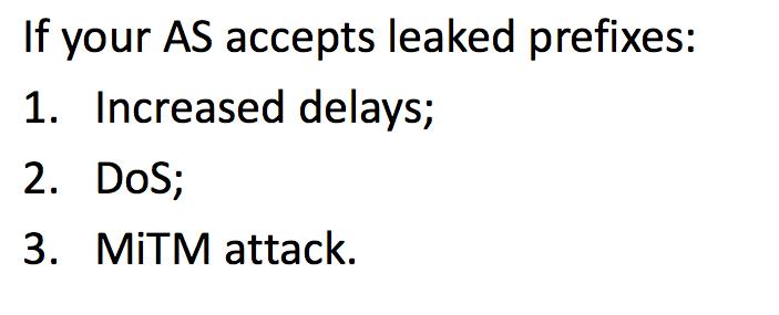 Утечки маршрутов BGP - 4