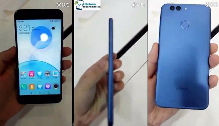 Смартфон Huawei Nova 2, оснащенный сдвоенной камерой, запечатлен на первых фотографиях
