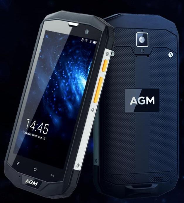 Защищенный смартфон AGM A8 SE работает с ОС Android 7.0