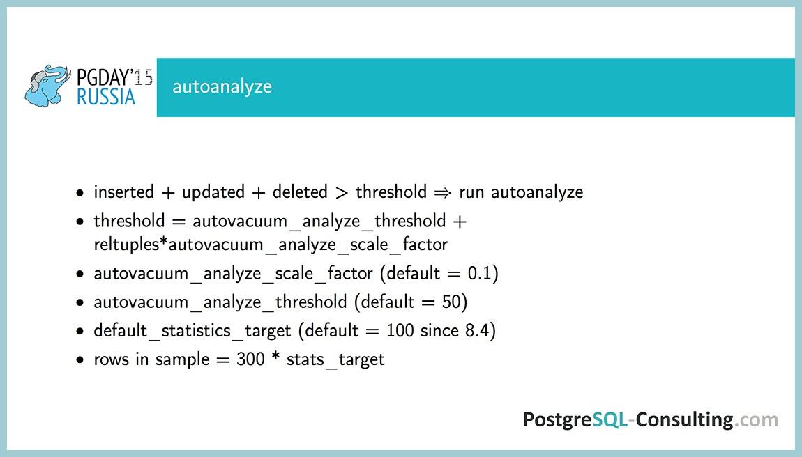 Использование статистики в PostgreSQL для оптимизации производительности — Алексей Ермаков - 11