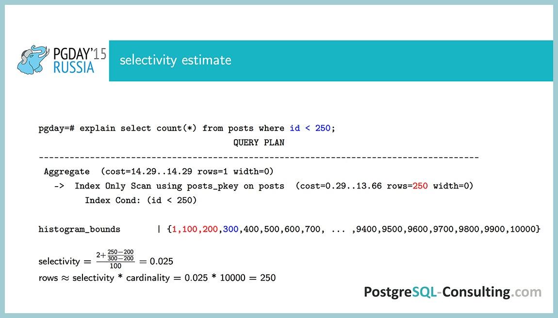 Использование статистики в PostgreSQL для оптимизации производительности — Алексей Ермаков - 14