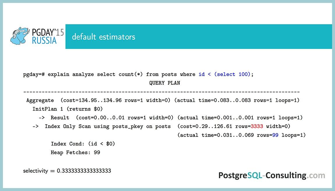 Использование статистики в PostgreSQL для оптимизации производительности — Алексей Ермаков - 24