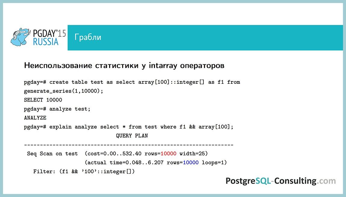Использование статистики в PostgreSQL для оптимизации производительности — Алексей Ермаков - 40