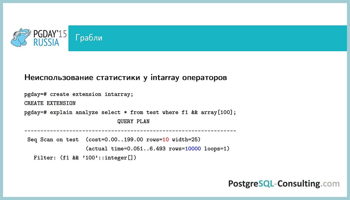 Использование статистики в PostgreSQL для оптимизации производительности — Алексей Ермаков - 41