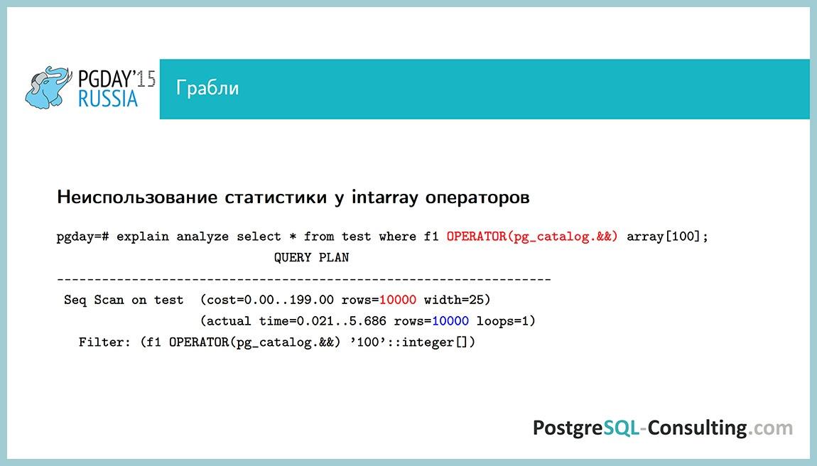 Использование статистики в PostgreSQL для оптимизации производительности — Алексей Ермаков - 42