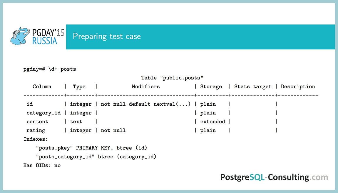 Использование статистики в PostgreSQL для оптимизации производительности — Алексей Ермаков - 6