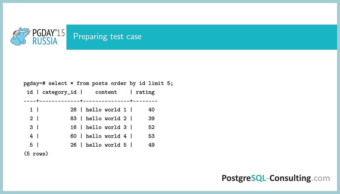 Использование статистики в PostgreSQL для оптимизации производительности — Алексей Ермаков - 8
