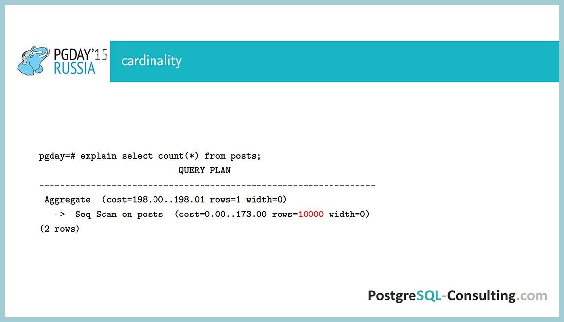 Использование статистики в PostgreSQL для оптимизации производительности — Алексей Ермаков - 9