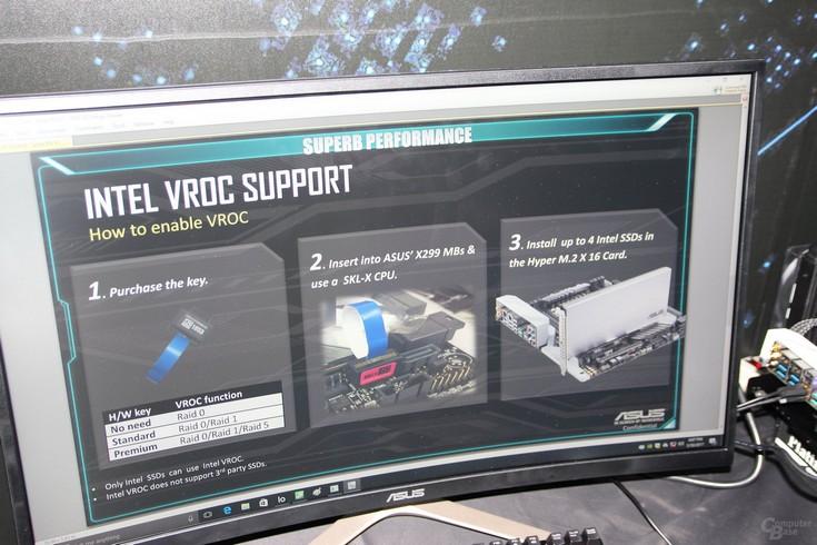 Asus и Intel показали реализацию технологии VROC