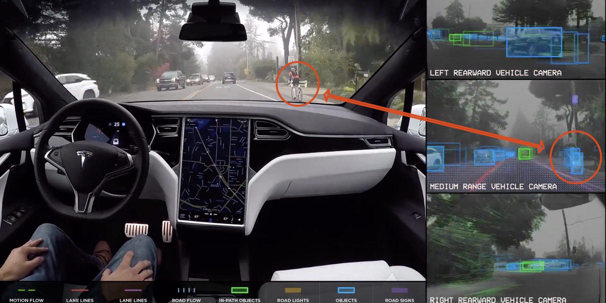 Автопилот электромобилей Tesla плохо распознает велосипедистов - 1