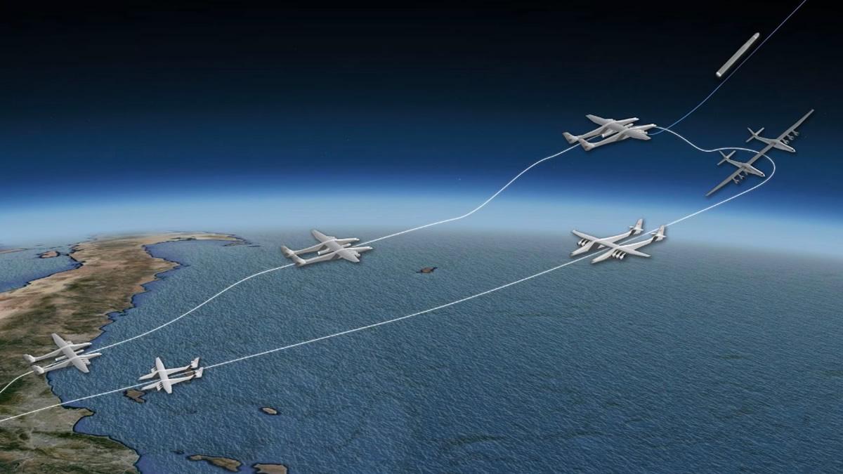 Пол Аллен впервые показал самолёт-носитель Stratolaunch для ускорения первых ступеней ракет - 5