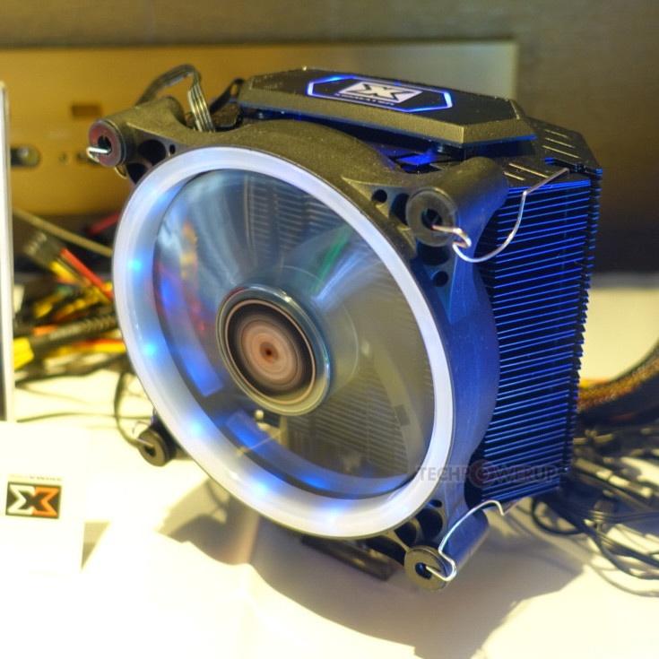 Система охлаждения Xigmatek Whiz RGB построена по классической башенной схеме