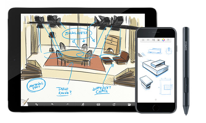 Умный стилус Bamboo Sketch предназначен для iPad и iPhone